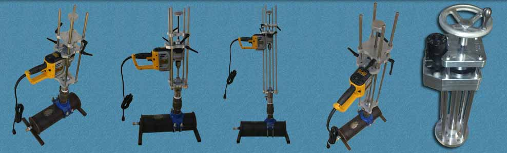 Quad Rail Hot Tapping Machines For Pressurized Hottaps